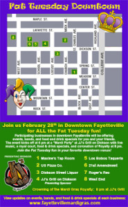 Fat Tuesday Downtown 2017 Event Map